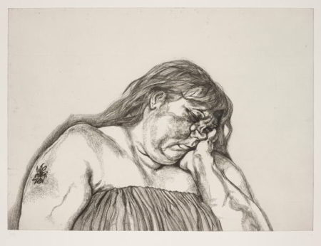 Lucian Freud-Woman with an Arm Tattoo-1996