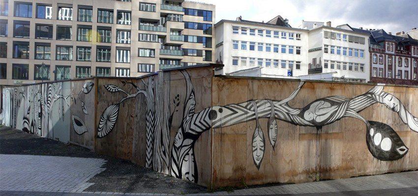 Lucy McLauchlan - Mural detail, Frankfurt, Germany, 2011