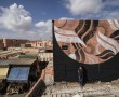 Lucy McLauchlan in front of her mural Marrakesh, Photo © Ian Cox 2016