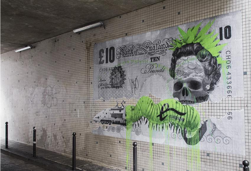 Ludo - Brexit, mural in Paris, France, 2016