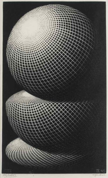 Maurits Cornelis Escher-Three Spheres I-1945