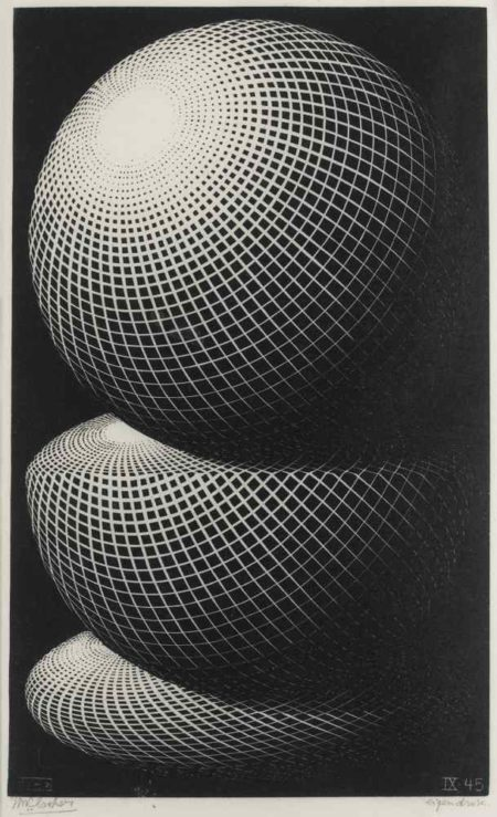 Maurits Cornelis Escher-Three Spheres I-1945