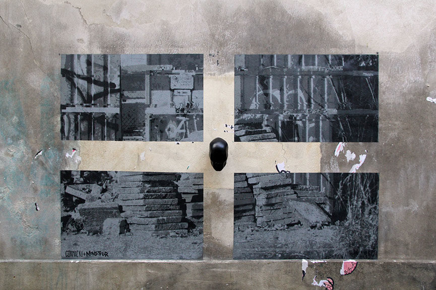 MONSTFUR x GÓRNICKI - Mirror (Centre Pompidou). Photo by IRON OXIDE
