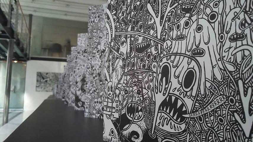 facebook exhibitions - Bastokalypes, installation view, 2016