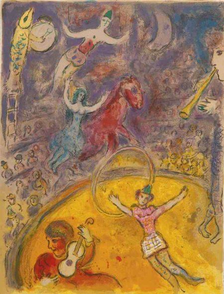 Marc Chagall-Cirque-1967