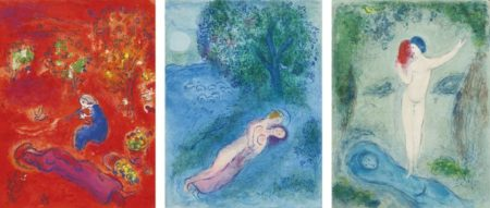 Marc Chagall-Daphnis And Chloe-1961
