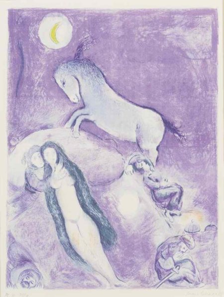 Marc Chagall-Four Tales From The Arabian Nights: Plate 11-1948