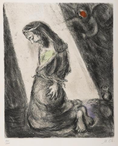 Marc Chagall-Jeremie dans la fosse pl. 103 from La Bible-1939