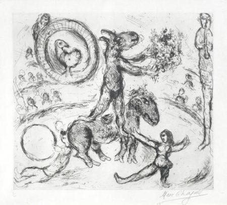 Marc Chagall-L'Ane au Bouquet de Fleurs-1968