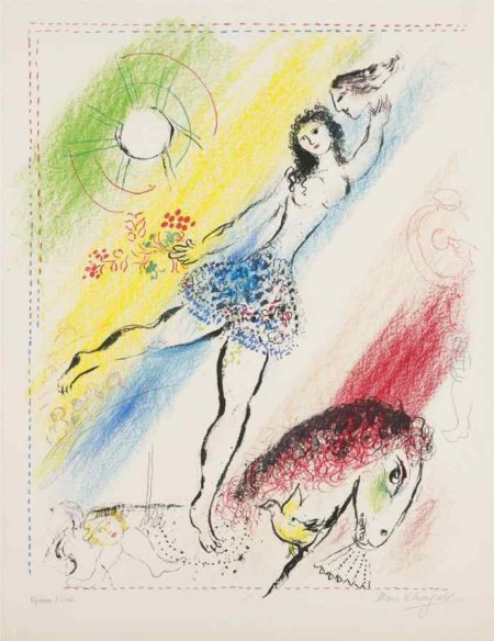 Marc Chagall-L'Ecuyere (Girl Circus Rider)-1964