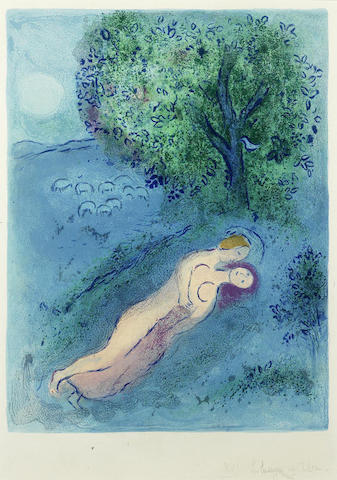 Marc Chagall-La Lecon de Philetas, from Daphnis et Chloe-1961