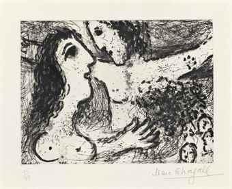 Marc Chagall-La femme et le Christ-1967