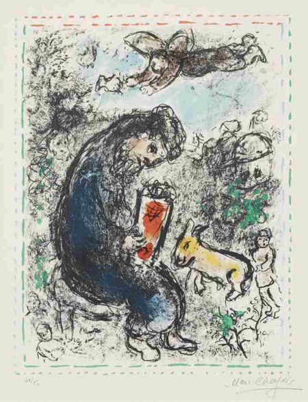 Marc Chagall-La priere (The Prayer)-1983