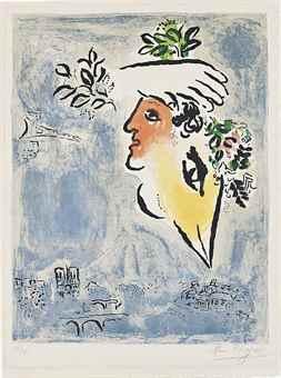 Marc Chagall-Le Ciel bleu-1964