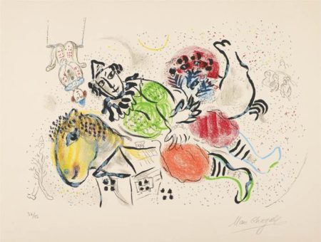 Marc Chagall-Le cirque ambulant (The Traveling Circus)-1969