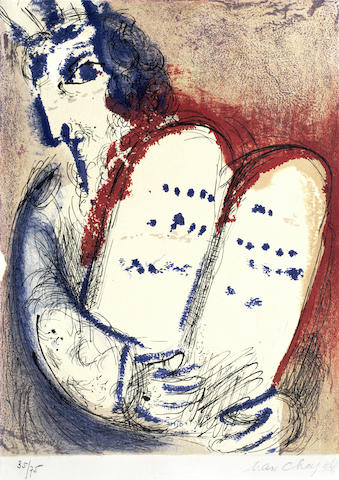 Marc Chagall-Moses, from The Bible-1956