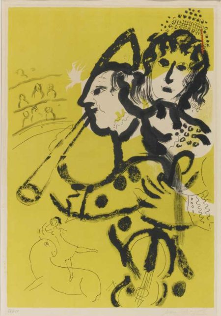 Marc Chagall-Musical Clown-1957