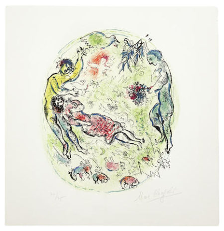 Marc Chagall-One plate, from Sur la Terre des Dieux-1967
