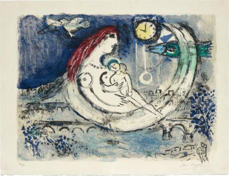 Marc Chagall-Paysage bleu (Blue Landscape)-1958