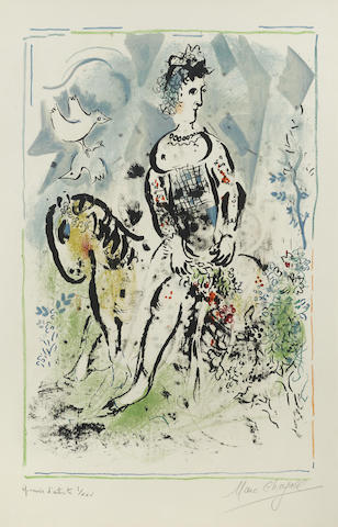 Marc Chagall-Pierrot Lunaire-1969