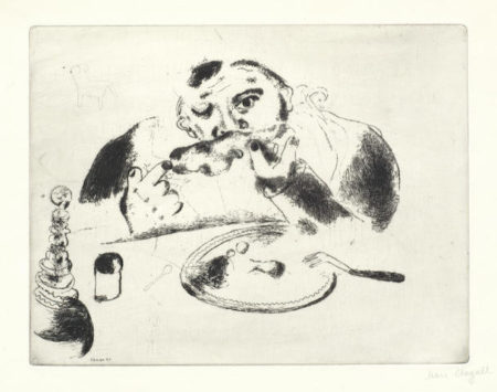Marc Chagall-Plate 36, Les Ames Mortes-1948