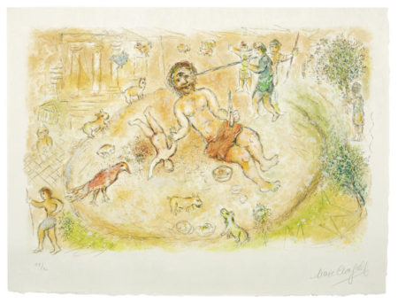 Marc Chagall-Polyphemus, from The Odyssea I-1975