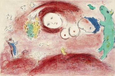 Marc Chagall-Printemps au Pre pl. 5 from Daphnis and Chloe-1961