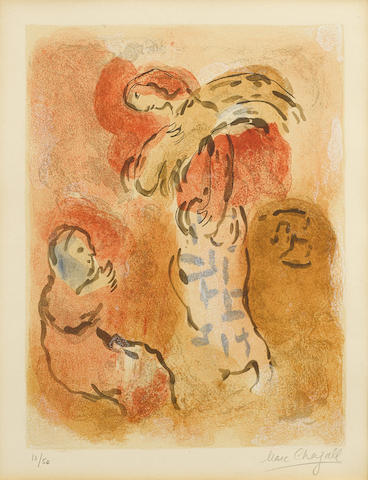 Marc Chagall-Ruth Glaneuse pl. 32 from Verve. Vol. X no. 37 et 38-1960