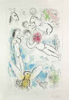 Marc Chagall-The Magic Flight-1980