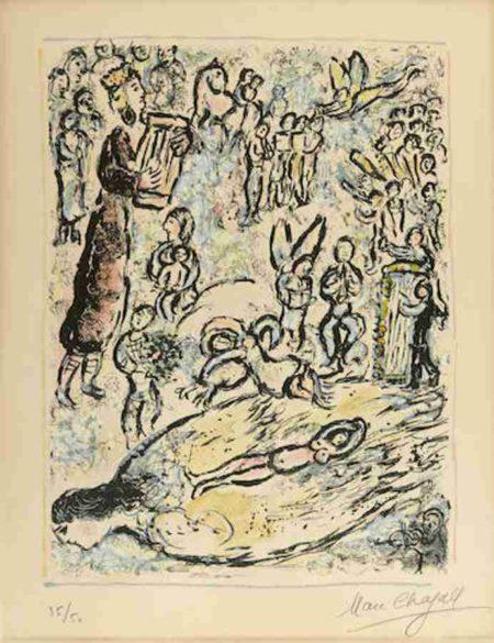 Marc Chagall-The Magic Flute II-1972