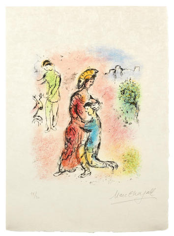 Marc Chagall-Ulysses makes himself known, from The Odyssea II-1975