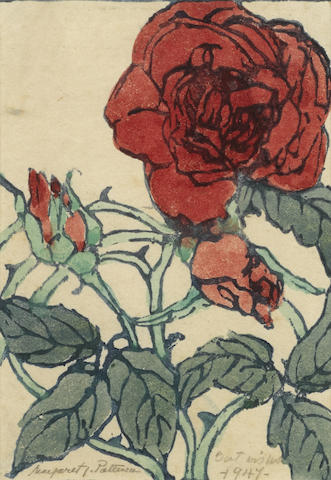 Margaret J. Patterson-Rose with Vine and Bud-1947