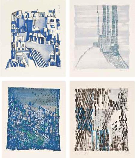 Maria Helena Vieira da Silva-Untitled (Four Lithographs in Colors)-1971