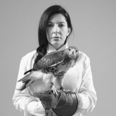 Marina Abramovic-Portrait with Falcon-2010