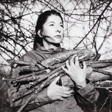 Marina Abramovic-Portrait with Firewood-2009