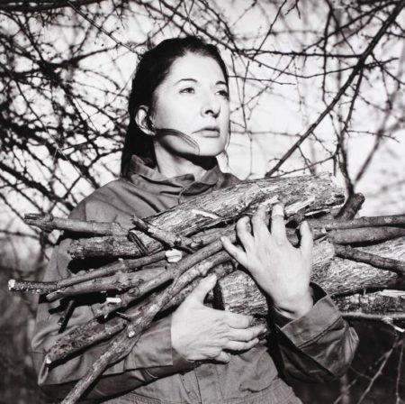 Marina Abramovic-Portrait with Firewood-2009