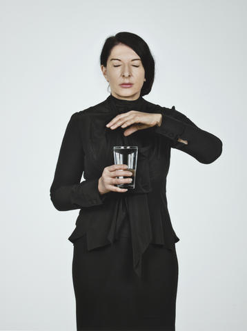 Marina Abramovic-Portrait with Glass of Water-2012