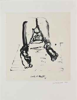 Marlene Dumas-Lonely at the Top, Imitating the Fathers and Lovesick Artist (unable to work) Reflects on the Sex of Angels-1989
