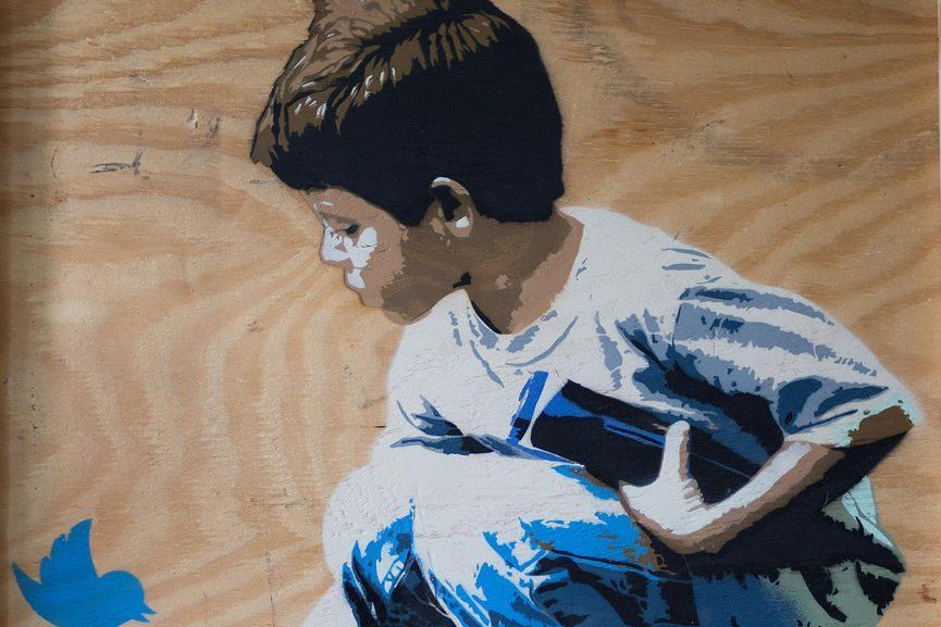 Boy & Dove (detail)