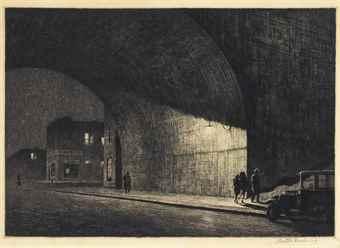 Martin Lewis-Arch, Midnight-1930