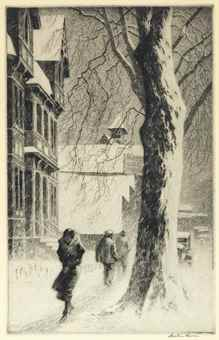 Martin Lewis-Winter on White Street-1934