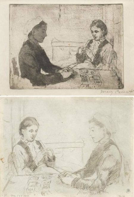 Mary Cassatt-Telling Fortunes-1881