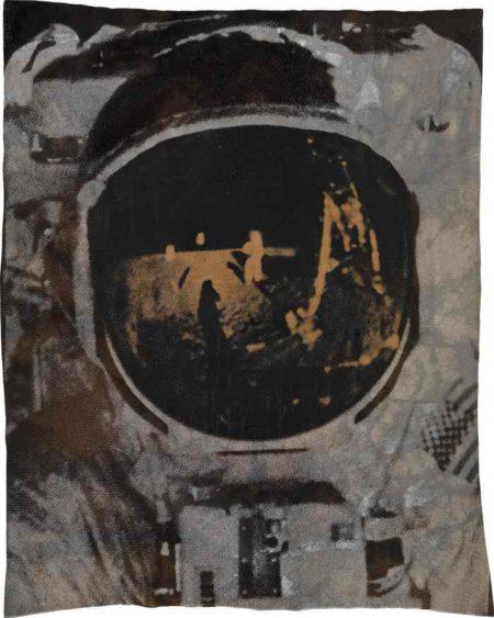 Neil Armstrong's self-portrait in Buzz Aldrin's helmet visor-2009
