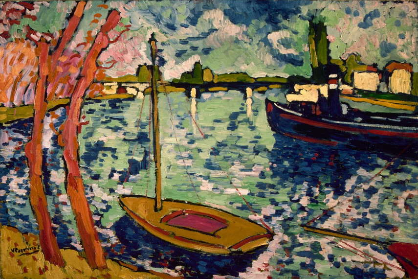 There were many things in Chatou related to Maurice de Vlaminck's work displayed in the museum
