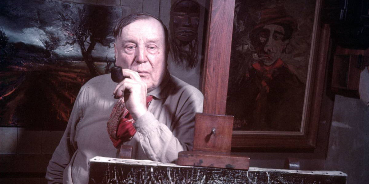 Maurice de Vlaminck at his studio, Normandy, France, 1949 - photo by Gjon Mili