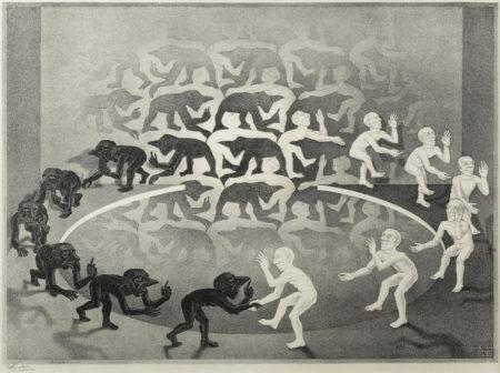 Maurits Cornelis Escher-Encounter-1944