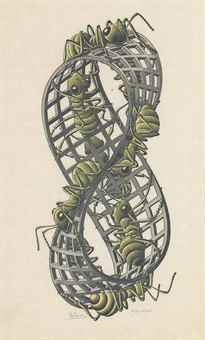 Maurits Cornelis Escher-Mobius Strip II-1963