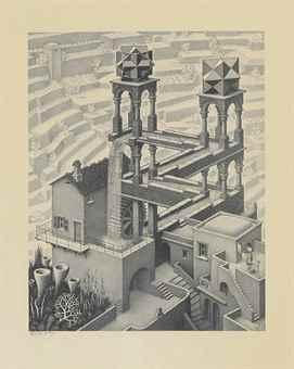 Maurits Cornelis Escher-Waterfall-1961