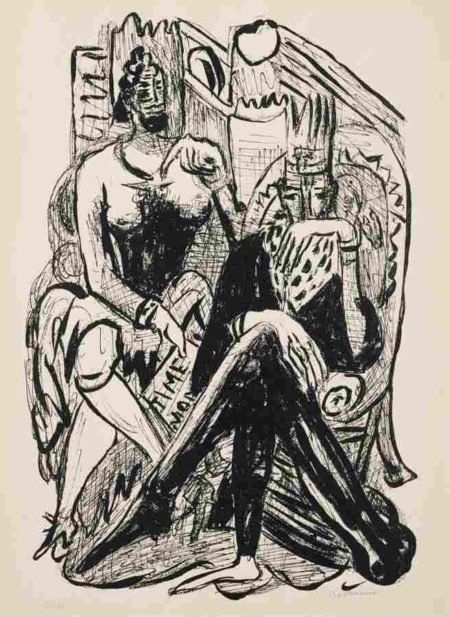 Max Beckmann-Konig und Demagoge (King and Demagogue), plate 8 from Day and Dream-1946