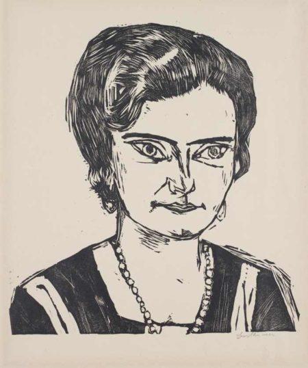 Portrait of Frau H.M. (Naila)-1923
